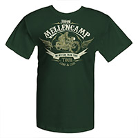 John Mellencamp 2010-2011 Green Motorcycle Tee
