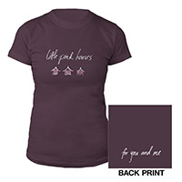 Plum Pink Houses Ladies Tee