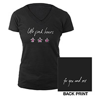 Black Pink Houses Ladies Tee