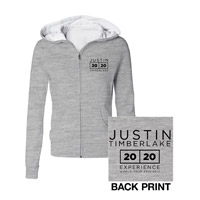 The 20/20 Experience World Tour Classic Gray Jrs Hoodie