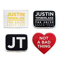 Justin's 20/20 Experience Badge Collection