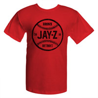 JayZ Red Baseball T-Shirt