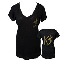 Official Glitter K$ Burnout V-neck