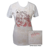 Kesha Tiger Burnout White Babydoll