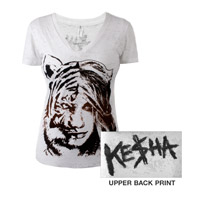 Ke$ha Burnout Flocked V-neck