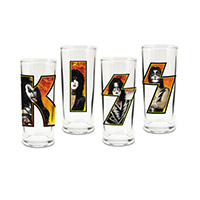 KISS 4pc. 10oz. Glass Set
