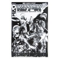 Limited Edition Extra Large Black &amp; White KISS Destroyer Comic #1