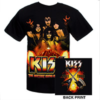 KISS 2011 Hottest Show Volcano Tour Tee