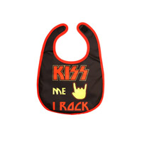 KISS Me I Rock Bib