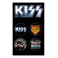 KISS Button 4 Pack