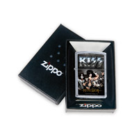 Brushed Chrome KISS Monster Zippo