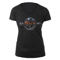 New - KISS 40th Anniversary Jr. Burnout V-Neck
