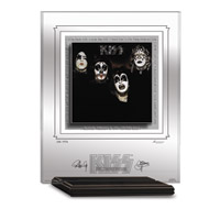 KISS 1ST ALBUM ARCHIVAL ETCHED GLASS - MANTELPIEC
