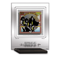 KISS HOTTER THAN HELL ARCHIVAL ETCHED GLASS - MANTELPIECE