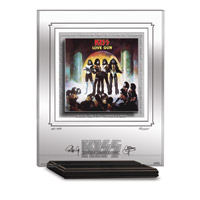 KISS LOVE GUN ARCHIVAL ETCHED GLASS - MANTELPIECE