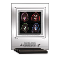 KISS SOLO ALBUMS ARCHIVAL ETCHED GLASS - MANTELPIECE