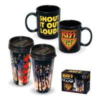 KISS Travel & Ceramic Mug 2PK