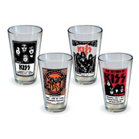 KISS Poster Pint Glass 4PK
