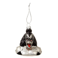 Glass Demon Bust Ornament