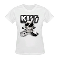 KISS Skull 'N' Guitars Ladies Tee