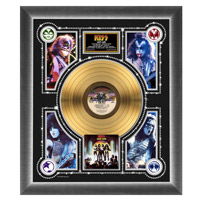 New - KISS Love Gun Collectible Framed Gold LP