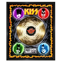 KISS Sonic Boom Collectible Framed Gold LP