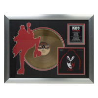 New - Solo Demon Collectible Framed Gold LP