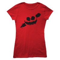 Haunted Smile Red Babydoll