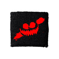 Haunted Smile Black Sweatband