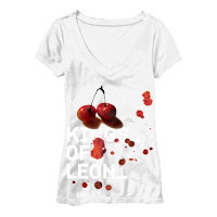 Cherry Splash Jr. V-neck Tee