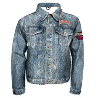 Juniors Denim Patch Jacket