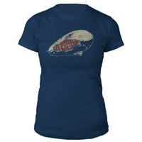 Led Zeppelin Union Jacks Navy Women's T-Shirt