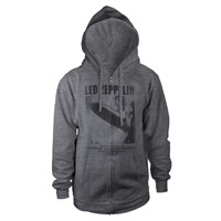 LED ZEPPELIN UK TOUR 1969 GREY ZIP HOODIE