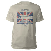 LED ZEPPELIN THE ONLY WAY TO FLY HEATHER GREY T-SHIRT