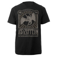 LED ZEPPELIN MADISON SQUARE GARDEN 1975 EVENT BLACK T-SHIRT