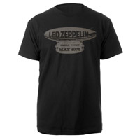 LED ZEPPELIN EARL'S COURT 1975 BLACK T-SHIRT