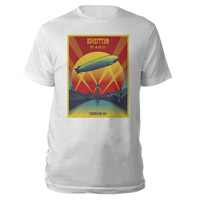 Led Zeppelin Celebration Day White T-Shirt