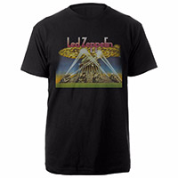 Led Zeppelin II Album Inside Cover Black T-Shirt