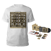 Led Zeppelin Physical Graffiti Super Deluxe Edition Box Set + Album White T-Shirt