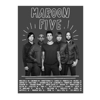 Official Maroon 5 2013 Summer Tour Poster
