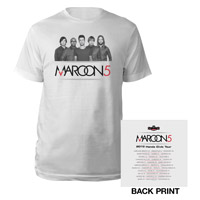 Maroon 5 Photo Summer Tour Tee