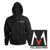 Maroon 5 Full Zip Hooded Sweatshirt