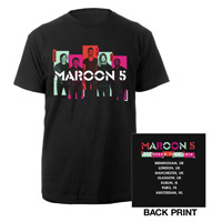 Maroon 5 Photo Blocks 2014 European Tour Tee*