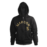 Maroon 5 Logo Full Zip Hooded Sweatshirt