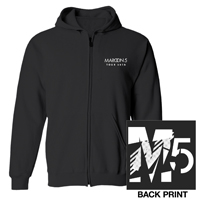 Maroon 5 2016 Tour Zip-Up Hooded Sweatshirt