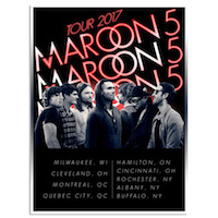 Maroon 5 2017 North American Tour Poster