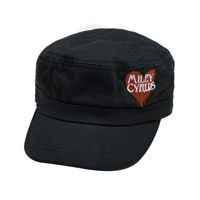 Miley Cyrus Embroidered Heart Hat
