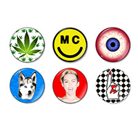 Miley Icon Button Pack (6)