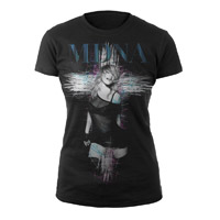 MDNA Juniors White Cross Tee