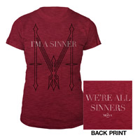 Madonna I'm a Sinner Women's Red Shirt